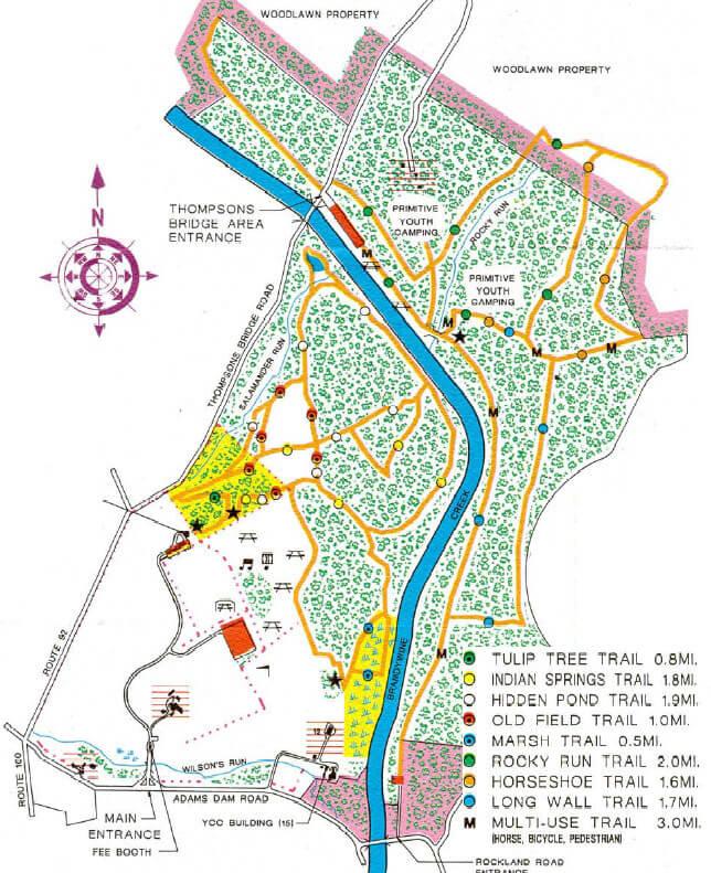 Brandywine Creek State Park Mountain Biking Map