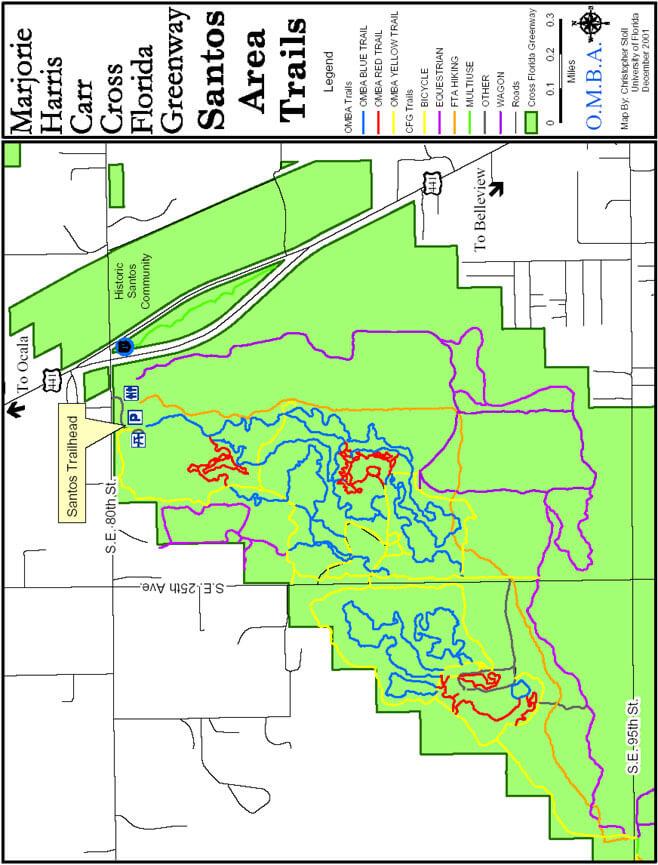 Santos Bike Trails Mountain Biking Map