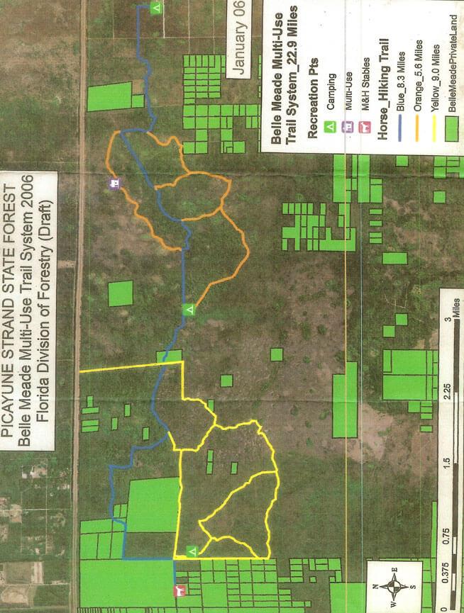 Belle Meade Trail Mountain Biking Map