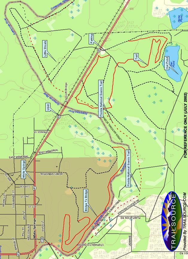 Gar Pond Mountain Biking Map