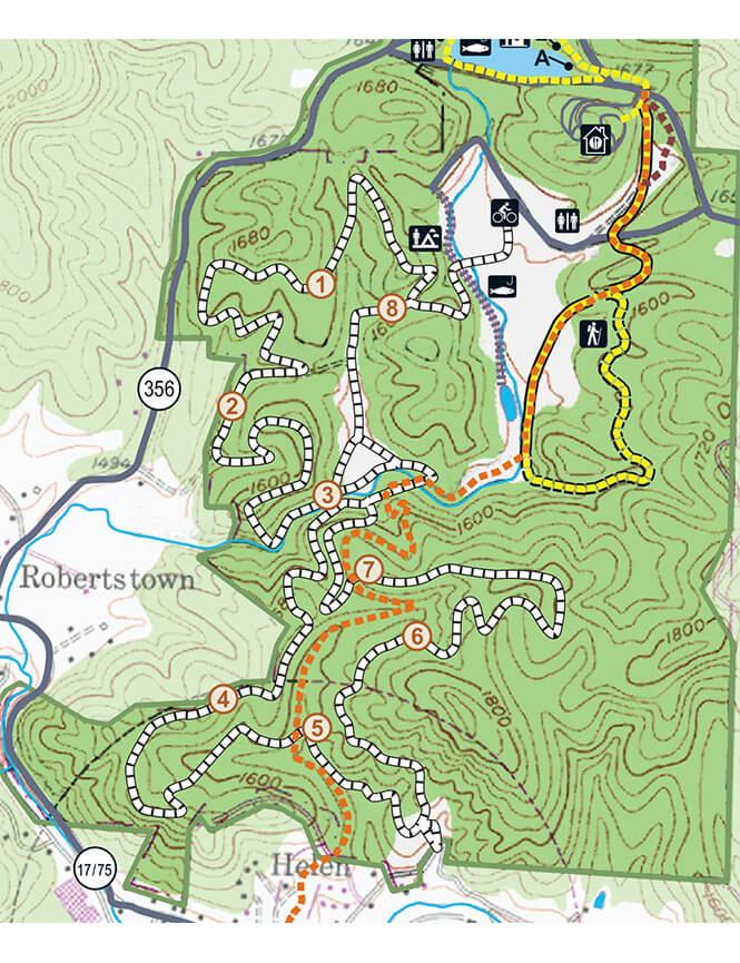 Unicoi Mountain Bike Trail Mountain Biking Map