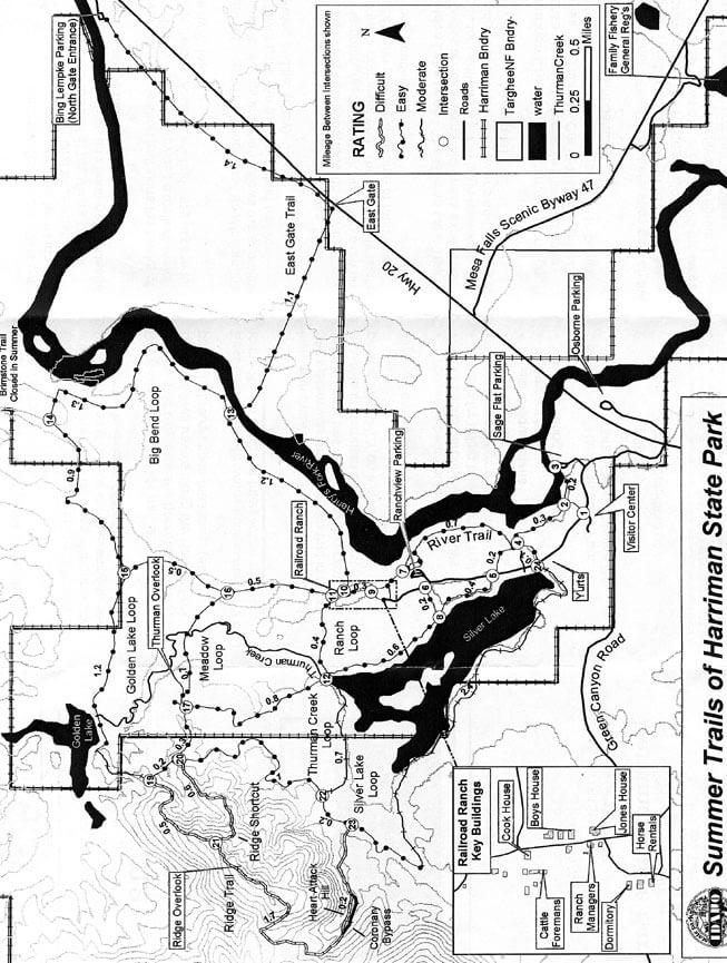 Ridge Trail Mountain Biking Map