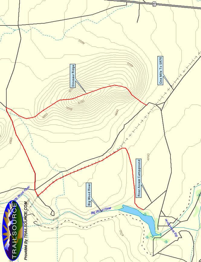 Dinosaur Ridge Mountain Biking Map