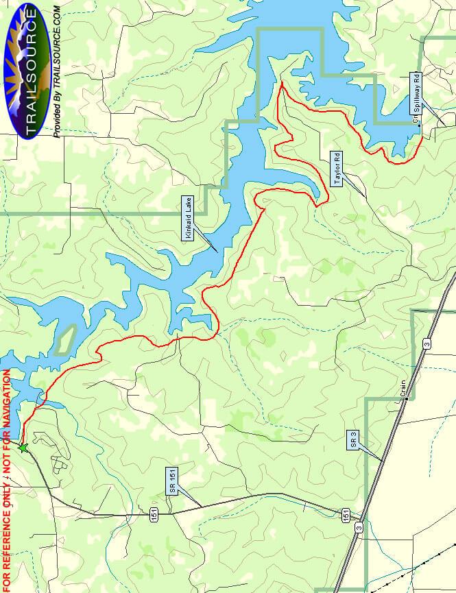 Kinkaid Lake Trail Hiking Map