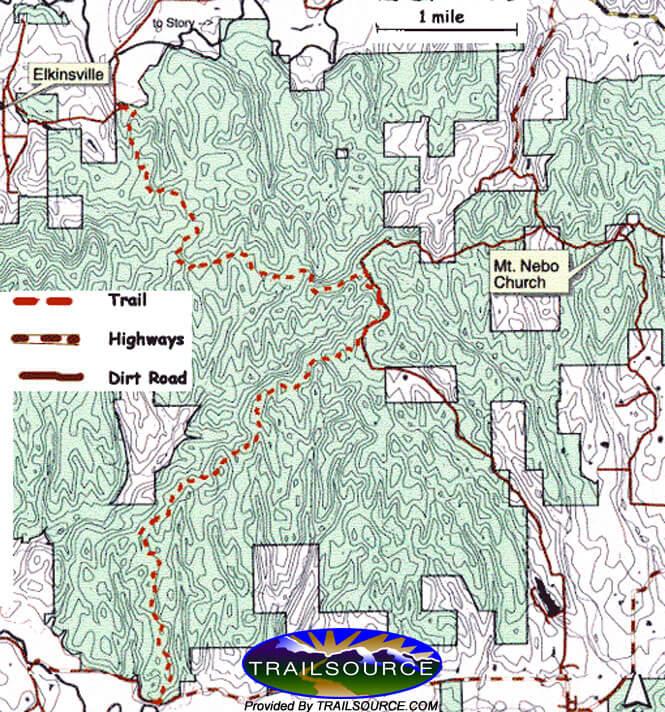 Nebo Ridge Loop / Knobstone Trail Mountain Biking Map
