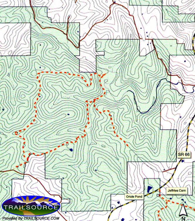 Oriole West Trail System Mountain Biking Map