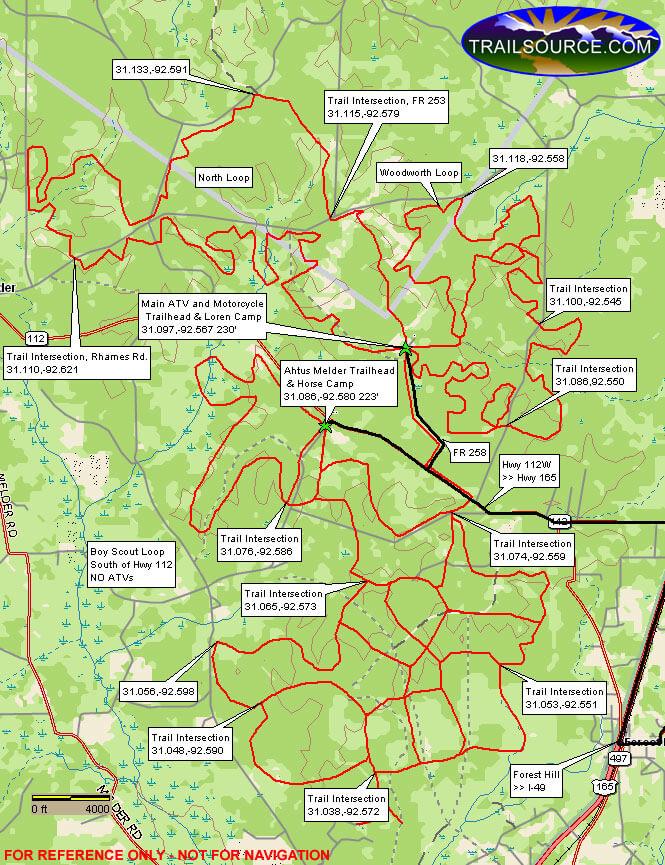 Claiborne Trail Mountain Biking Map