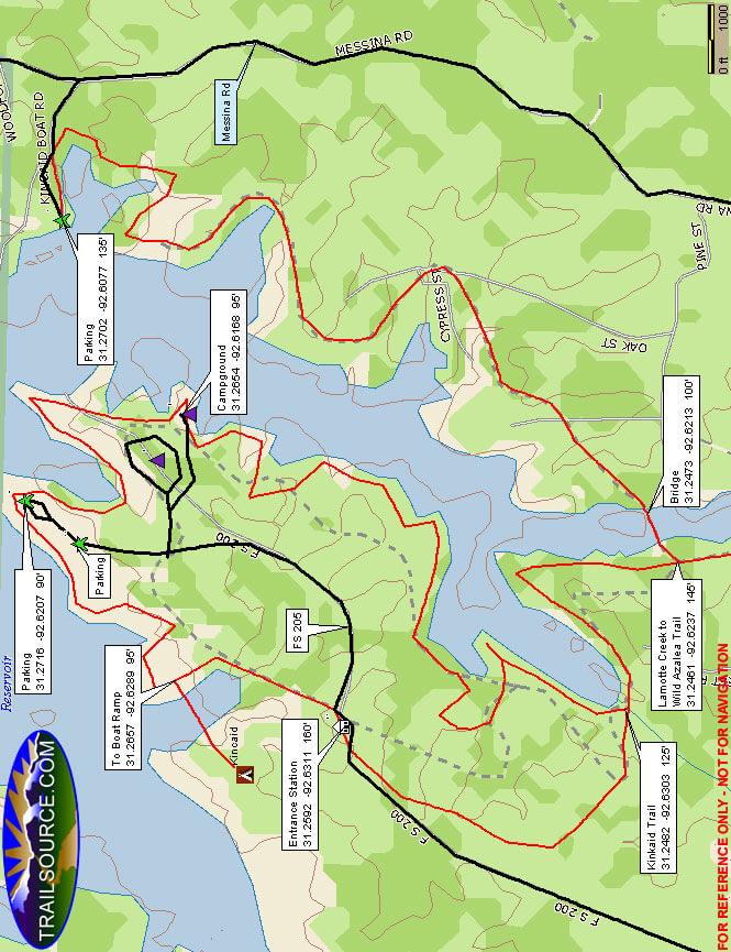 Lakeshore Trail Mountain Biking Map