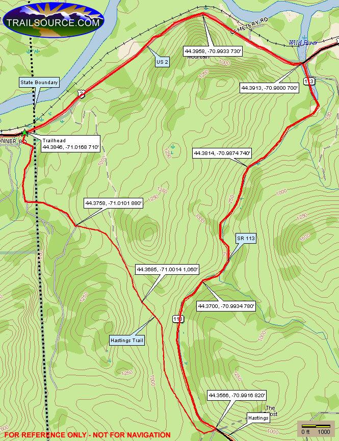 Hastings Trail Mountain Biking Map