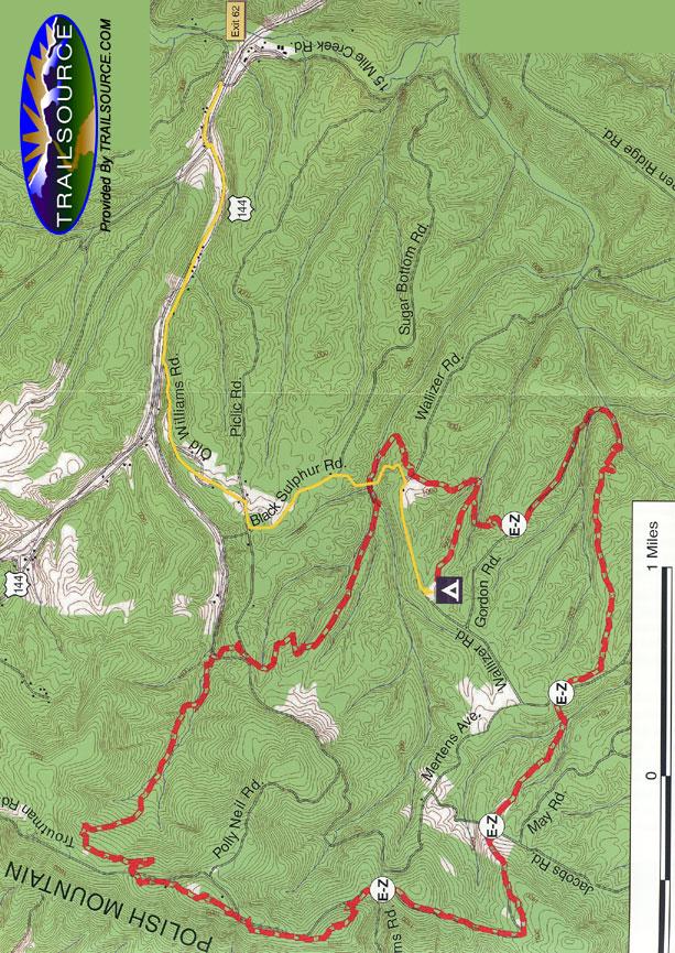 Green Ridge State Forest Mountain Biking Map