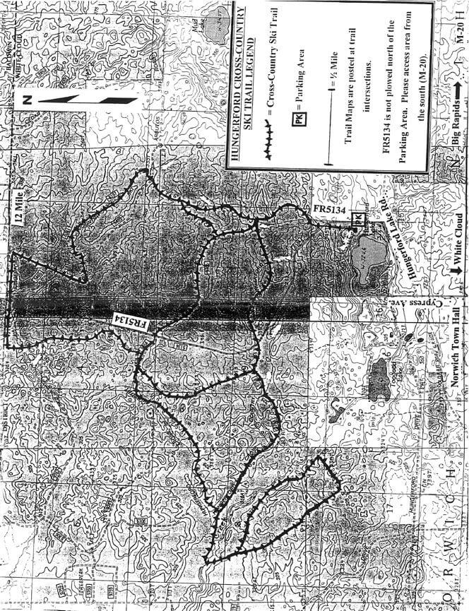 Hungerford Lake Mountain Biking Map