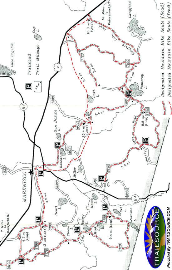 Pines and Mines - Henry Lake Mountain Bike Complex Mountain Biking Map