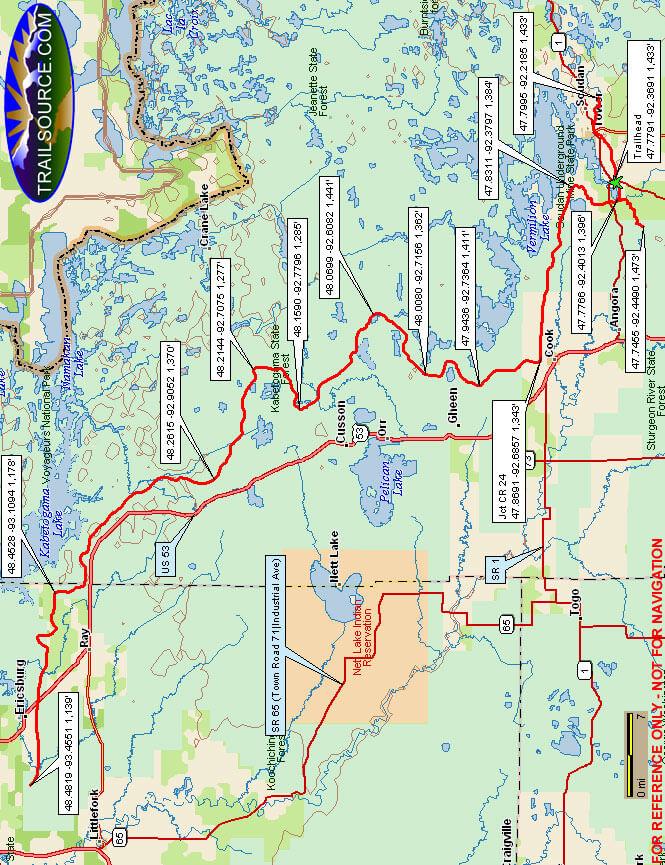 Arrowhead Trail Mountain Biking Map