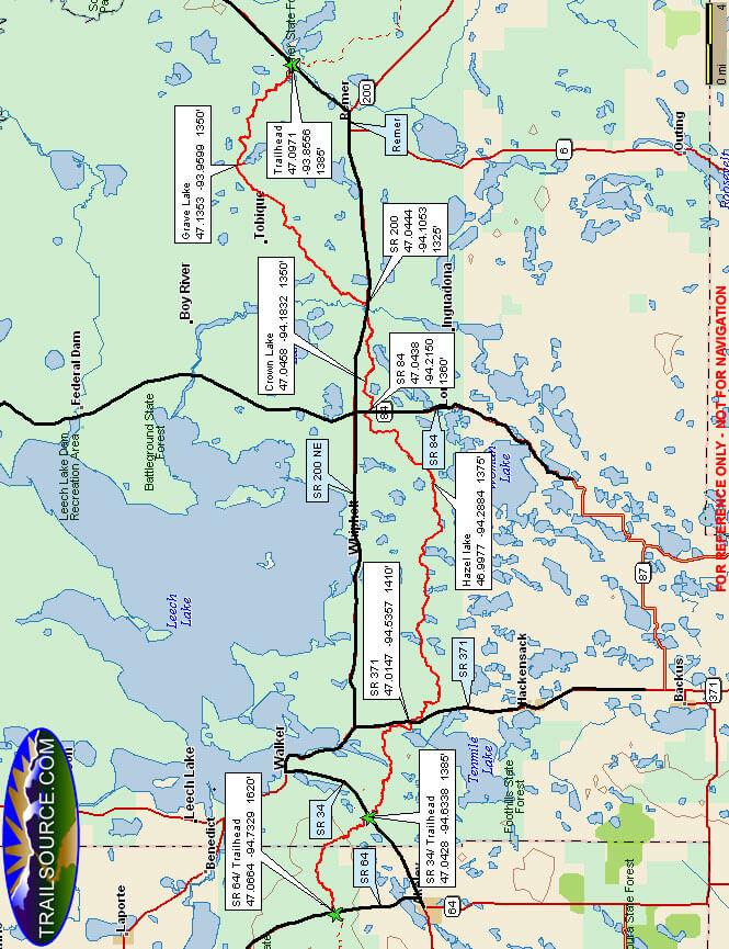 North Country Trail Mountain Biking Map