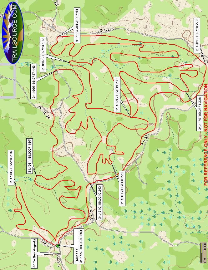Rattlesnake Bay ATV Trail Mountain Biking Map