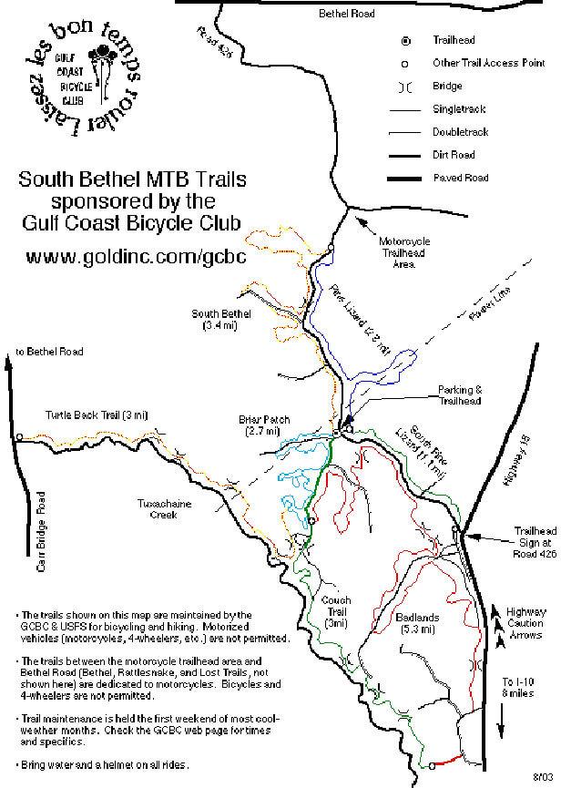 South Loop Bethel Trail Mountain Biking Map