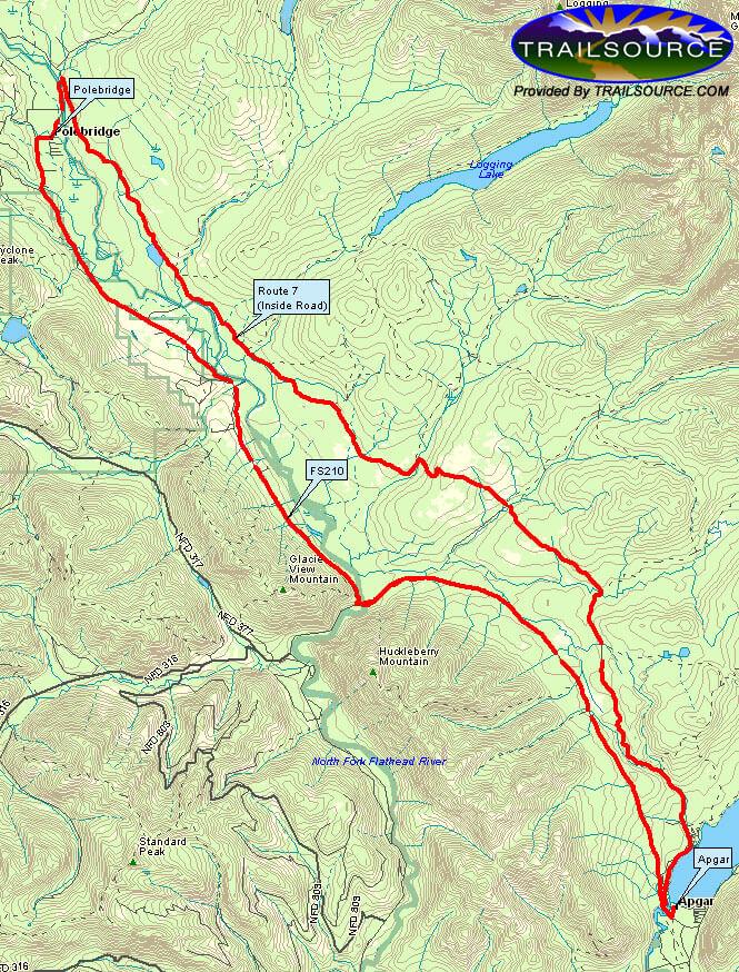 Inside / Outside Loop Mountain Biking Map