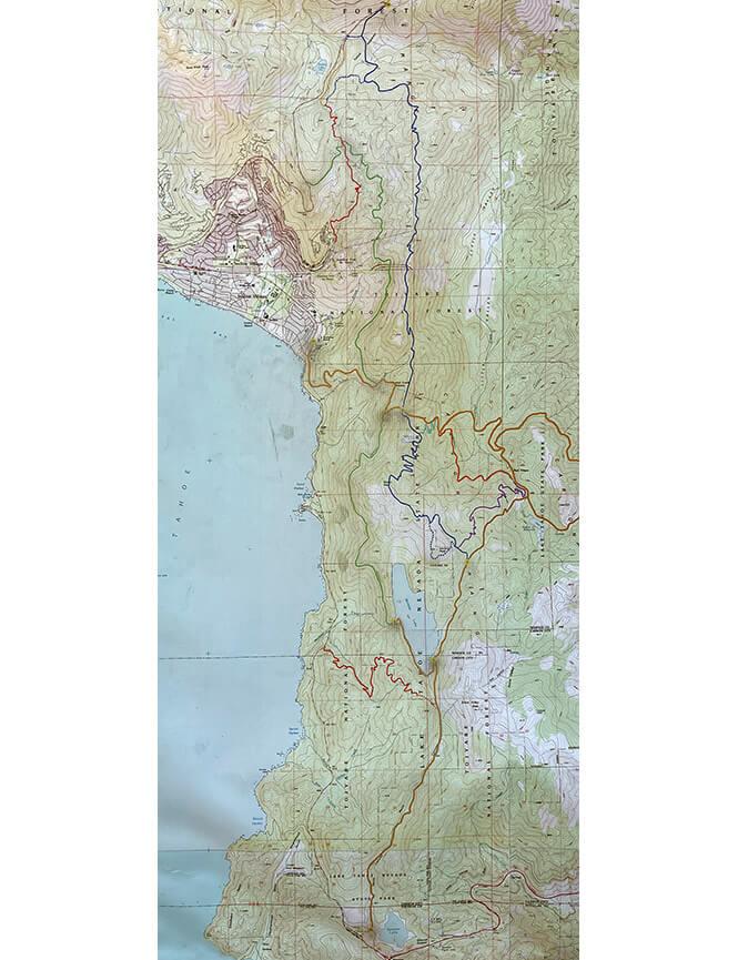 Flume Trail Mountain Biking Map