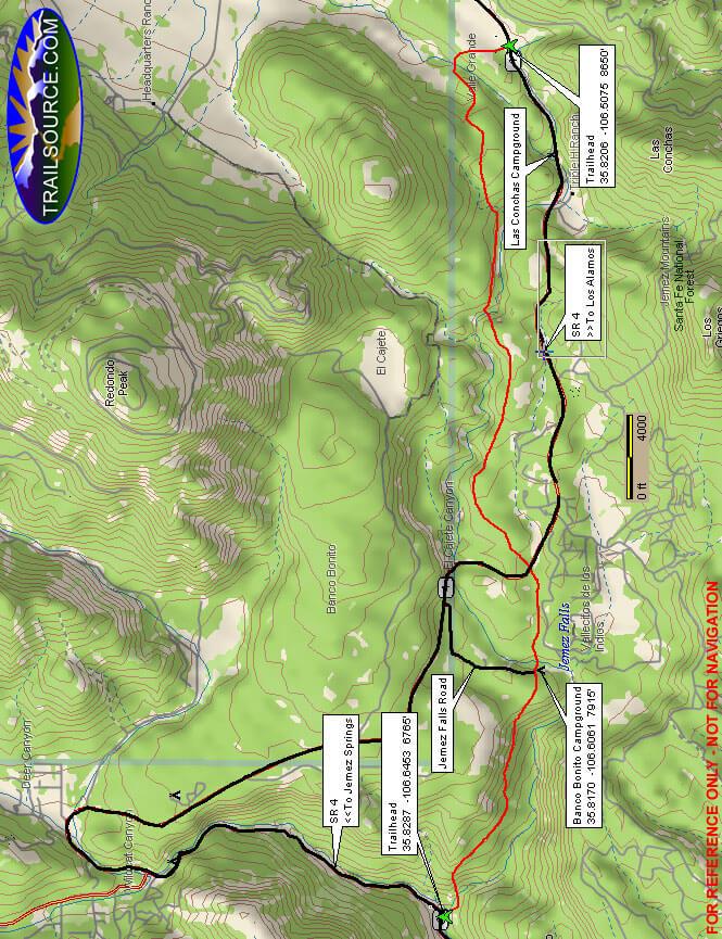 East Fork Trail Mountain Biking Map