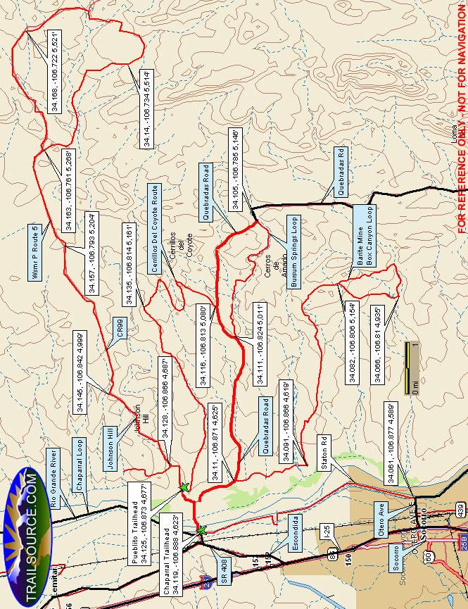Johnson Hill Mountain Biking Map