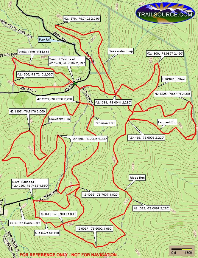 Allegany State Park Mountain Biking Map