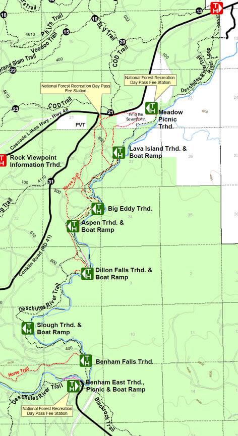 Deschutes River Trails Mountain Biking Map