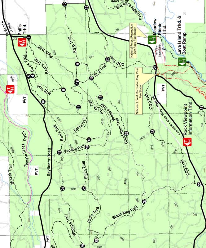 Phils Trail Loop Mountain Biking Map