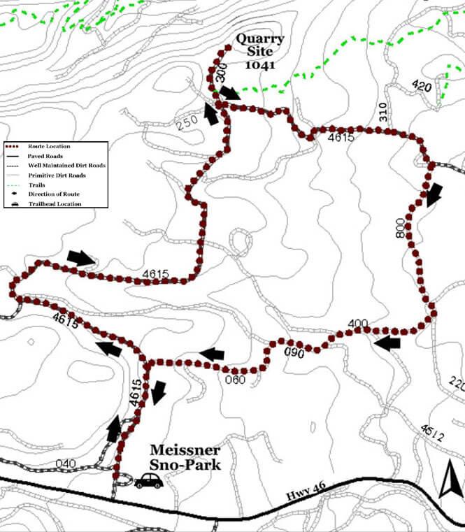 Tangent/QS 1041 Mountain Biking Map