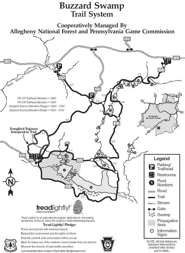 Buzzard Swamp Loop Mountain Biking Map