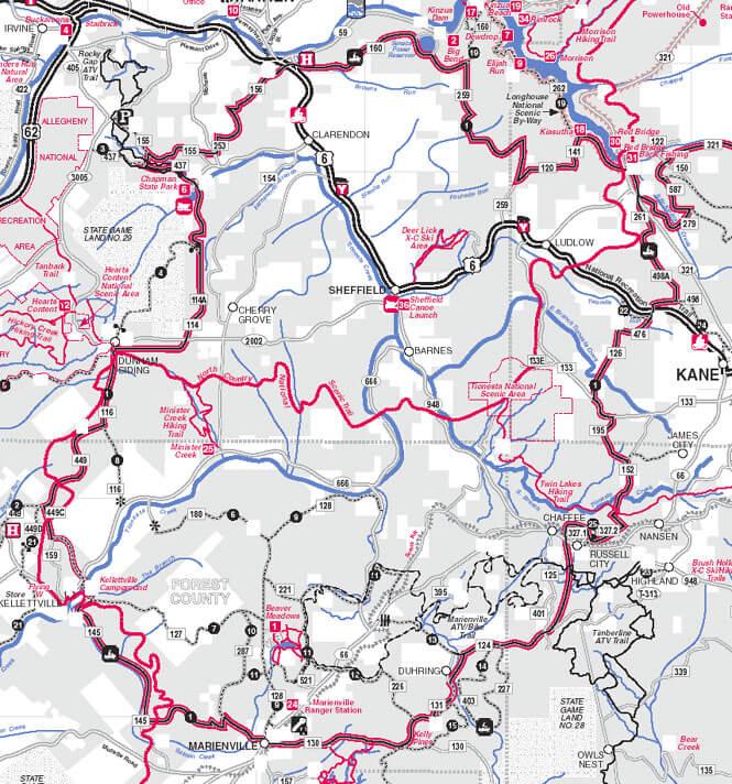 Grand Tour Mountain Biking Map