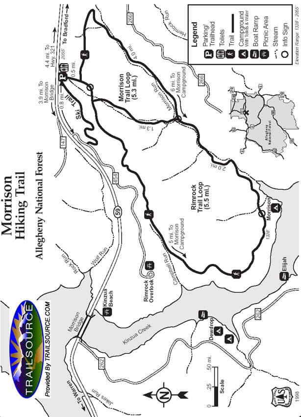 Morrison East Mountain Biking Map