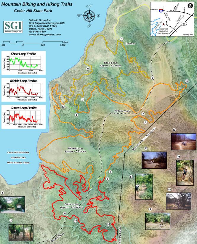 DORBA Trail Mountain Biking Map