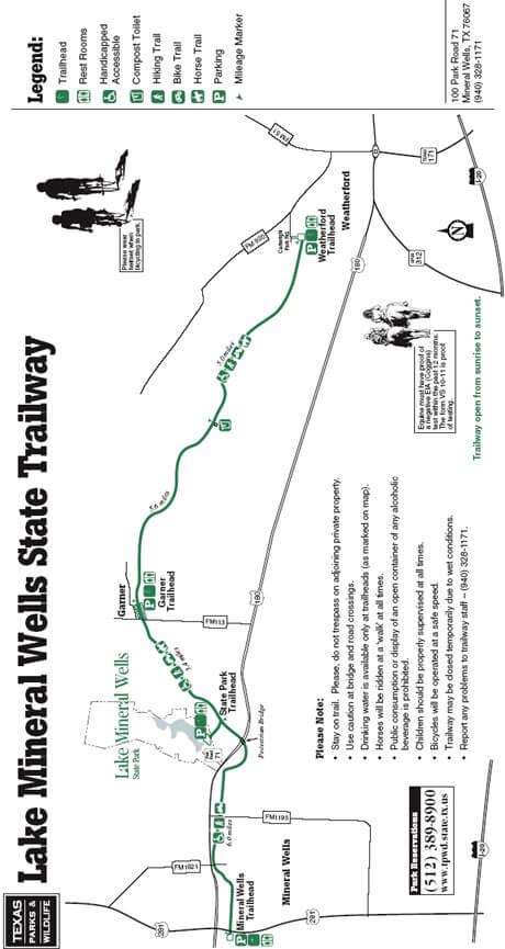 Lake Mineral Wells State Park Mountain Biking Map