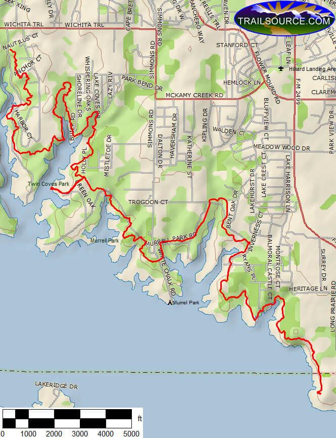 Northshore Trail Mountain Biking Map
