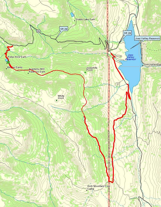 Petes Hole / Josephite Point Trail Mountain Biking Map