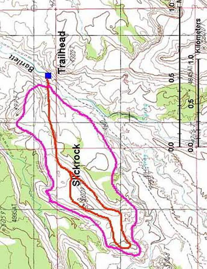 Bartlett Wash Mountain Biking Map