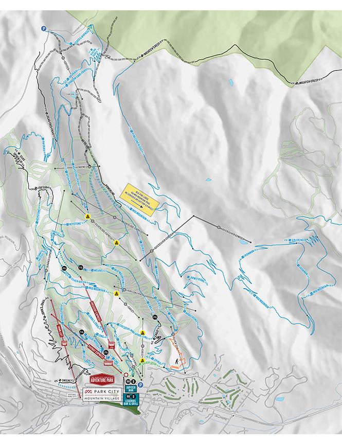 Park City Mountain Resort Mountain Biking Map