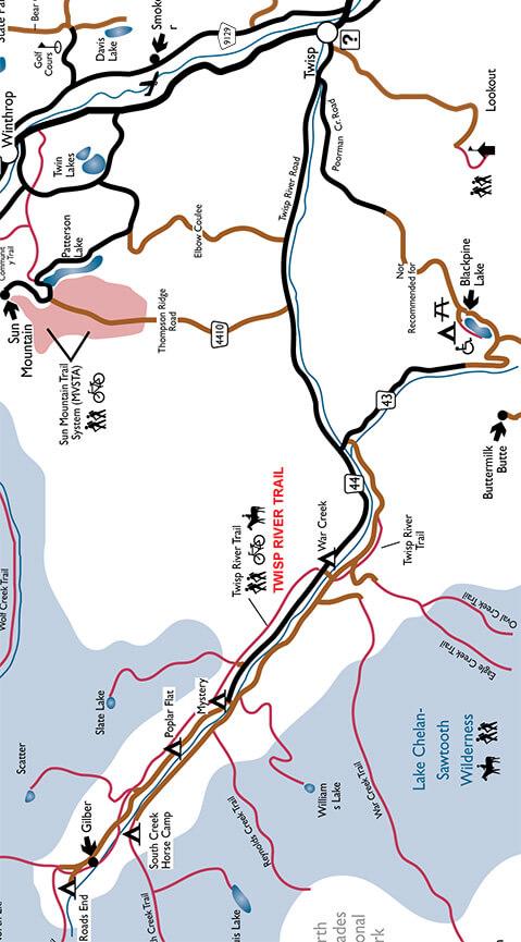 Twisp River Trail Mountain Biking Map