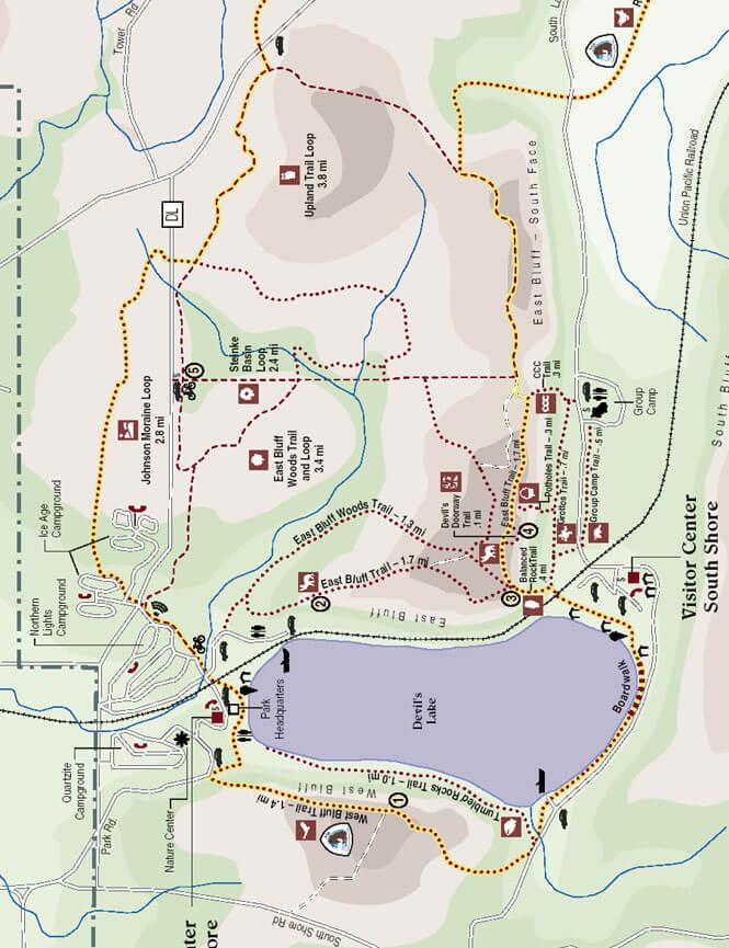 Ice Age Loop Mountain Biking Map
