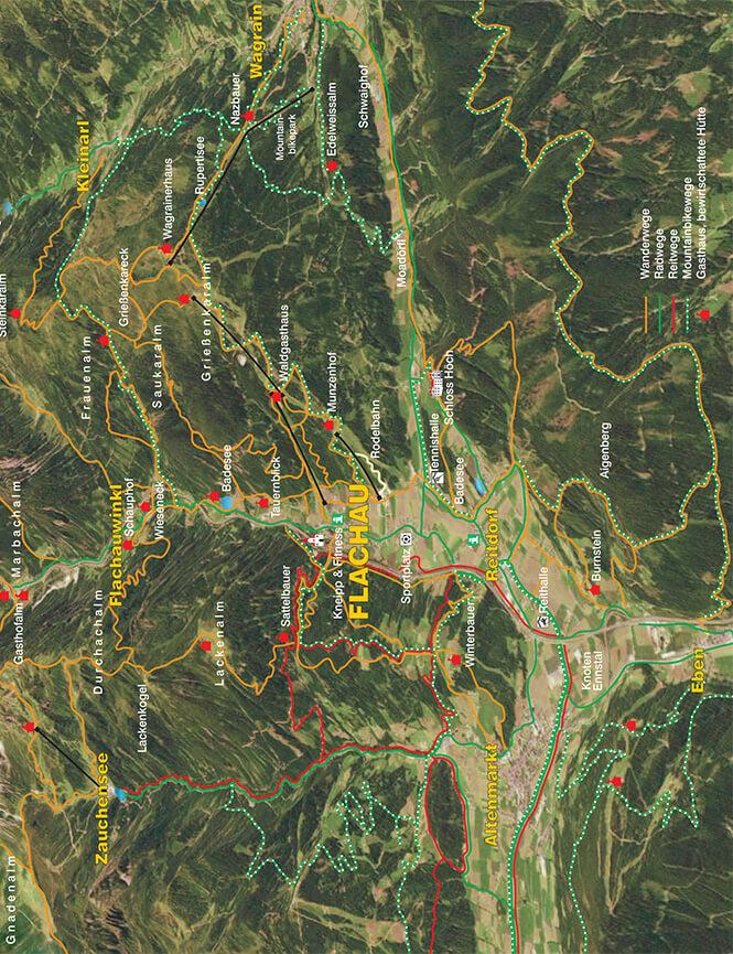 Flachau Hiking Map