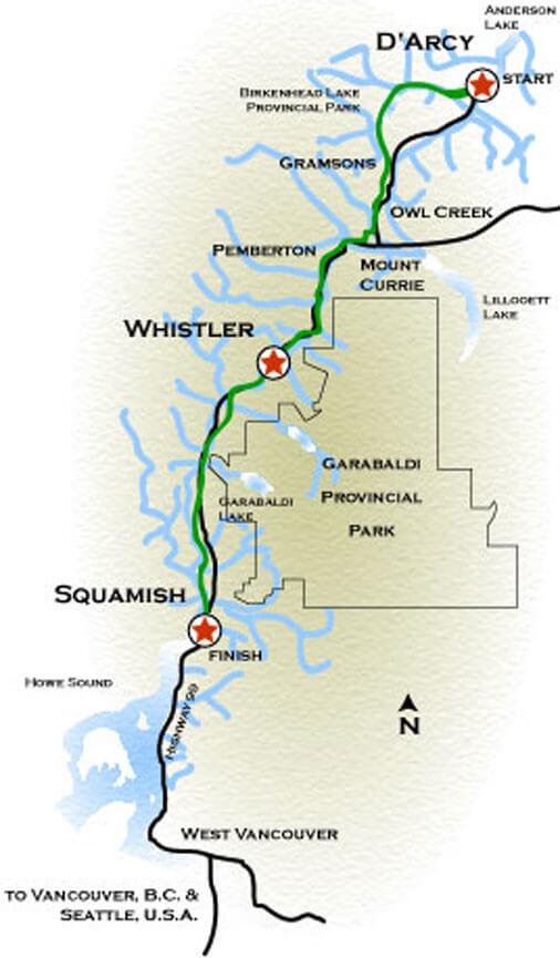 Sea-To-Sky Trail Hiking Map