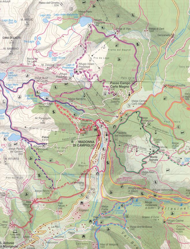 Madonna Di Campiglio Hiking Map