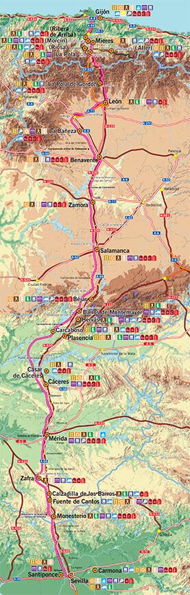La Ruta De La Plata Hiking Map