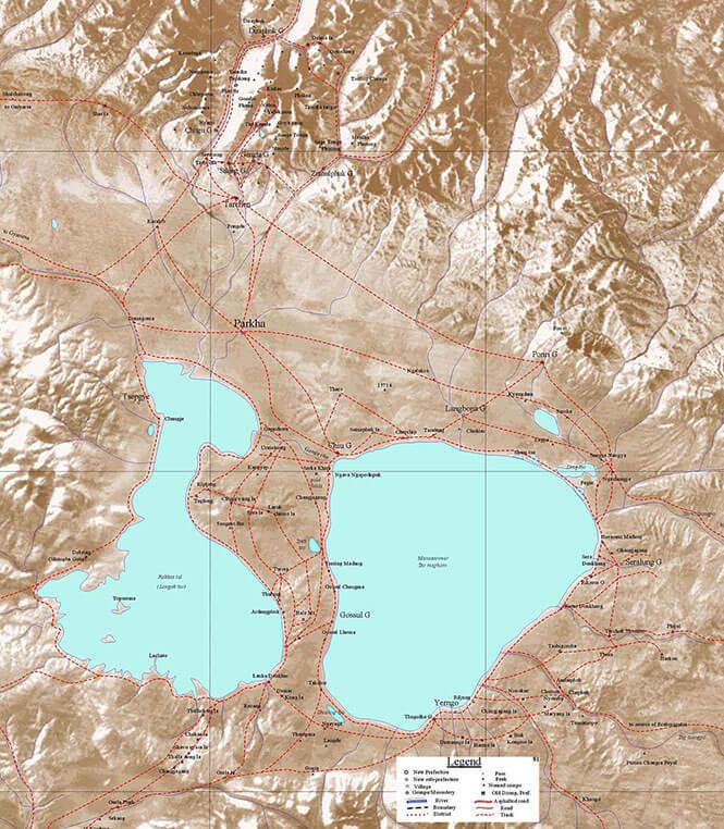 Mount Kailash Park Hiking Map