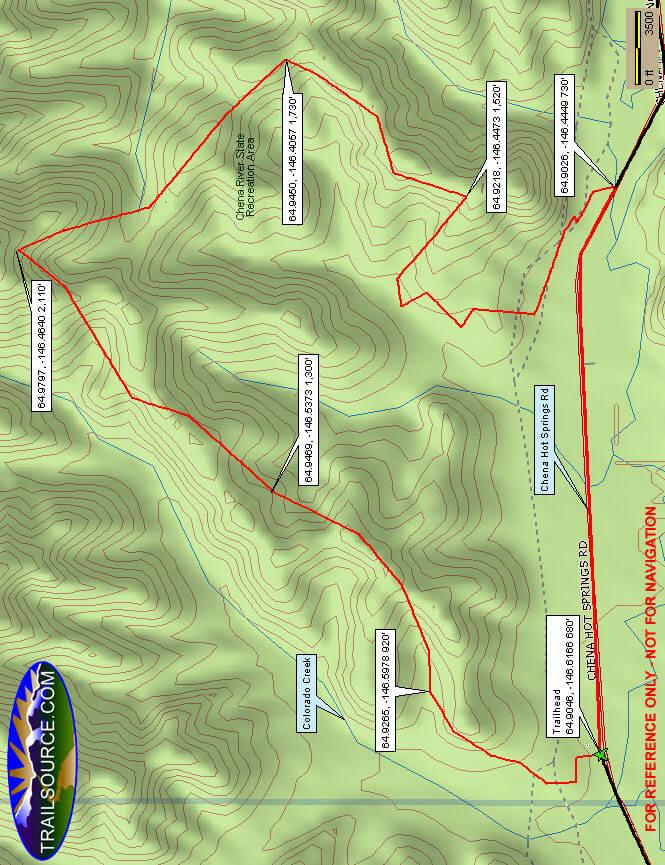 Four Mile Ridge Trail Hiking Map