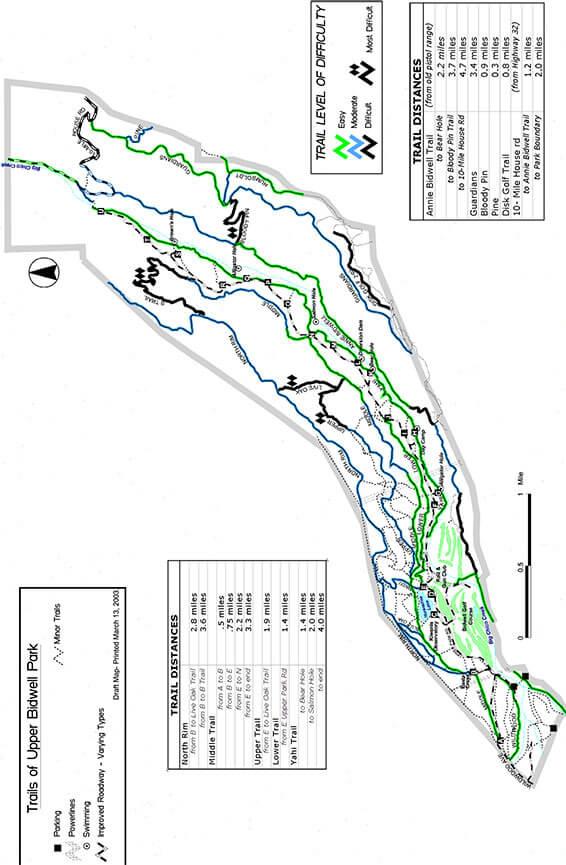 Bidwell Park Hiking Map