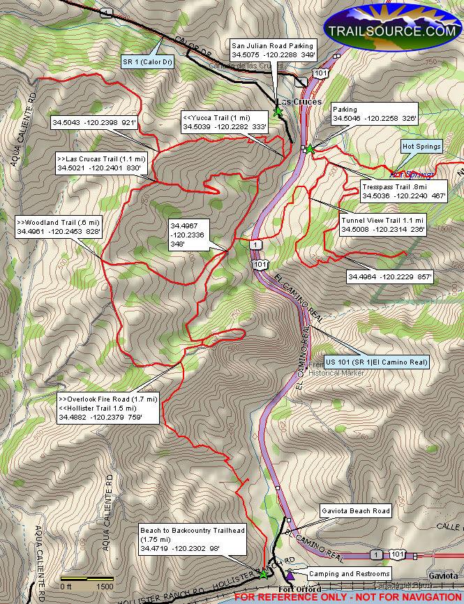 Gaviota State Park Hiking Map