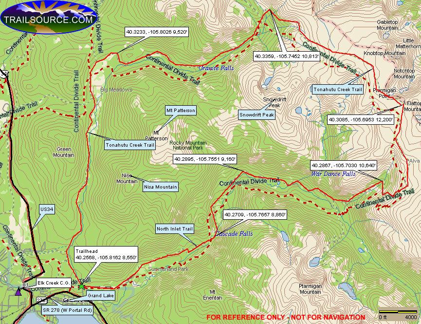North Inlet Trail / Tonahuta Creek Trail Hiking Map