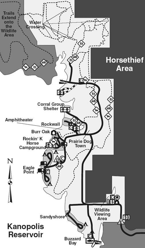 Kanopolis State Park Hiking Map