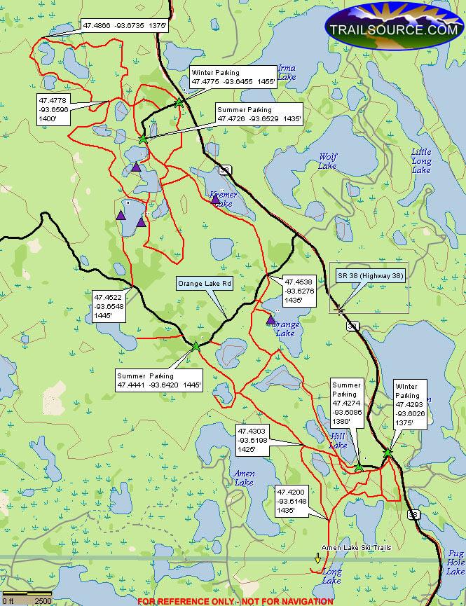 Suomi Hills Trail Hiking Map